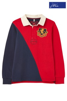 Joules Blue Try Cut And Sew Rugby Shirt