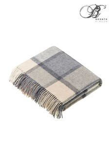 Bronte by Moon Block Windowpane Merino Lambswool Throw