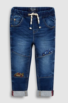 Jeans met auto-applicatie (3 mnd-6 jr)