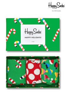 Happy Socks Holiday Socks Three Pack Gift Box