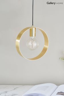 Hoop 1 Light Gold Pendant by Gallery Direct