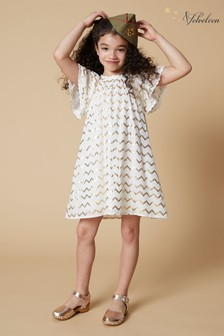 Velveteen White Rosemary Lace Dress