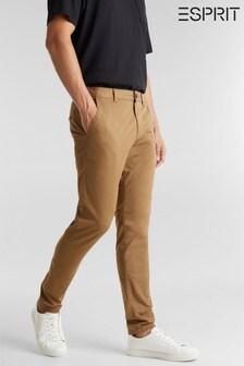 Esprit Camel Regular  Woven Chino Trousers