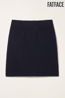 FatFace Blue Jennie Jacquard Skirt