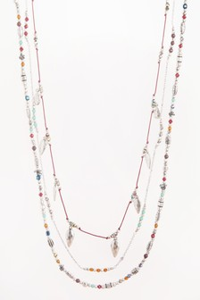 Beaded Three Layer Rope Necklace