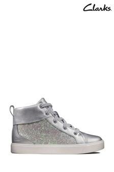 Clarks Silver Metallic City OasisHi K Boots