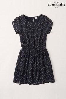 Abercrombie & Fitch Navy Ditsy Dress