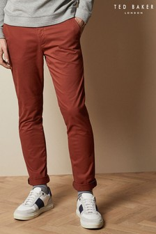 Ted Baker Orange Tincere Super Slim Fit Chino Trousers