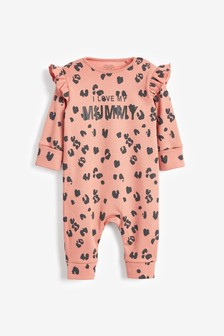 I Love My Mummy Leopard Footless Sleepsuit (0mths-3yrs)