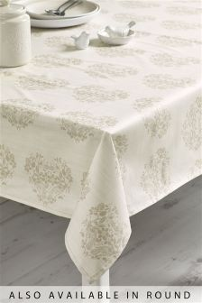Natural Heart Wipe Clean PVC Table Cloth