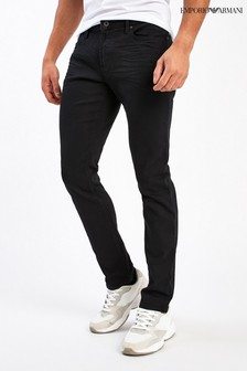 Emporio Armani J06 Black Slim Fit Clean Jeans