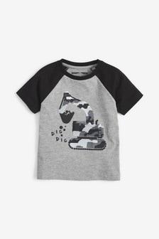 Short Sleeve Flippy Sequin Digger T-Shirt (9mths-7yrs)