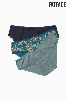 FatFace Green Kirsty Floral Mini Briefs Three Pack