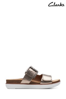 Clarks Gold Metallic Elayne Ease Sandals