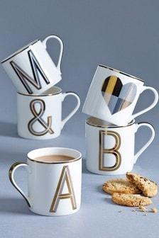 Gold Alphabet Mug