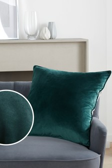 Green/Grey Mila Twin Velvet Large Square Cushion