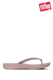 FitFlop Mink iQushion Sparkle Flip Flops