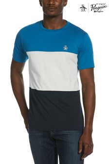 Original Penguin® Blue Colourblock T-Shirt