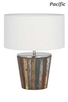 Kerala Distressed Salvage Wood Table Lamp by Pacific