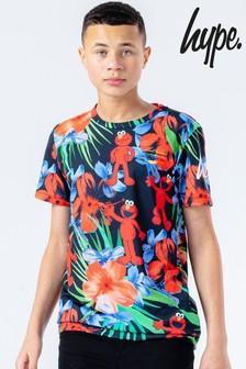 Hype. x Sesame Street Elmo Multi Floral Logo Kids T-Shirt