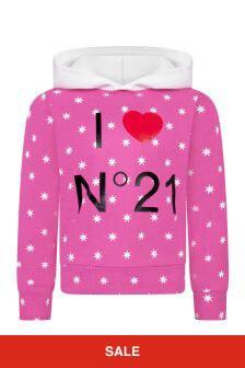 N°21 Girls Pink Cotton Sweat Top