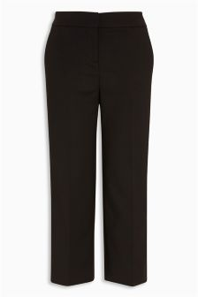 Wide Leg Cropped Trousers