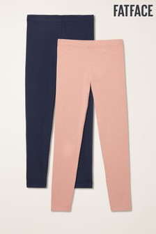 FatFace Pink Plain Leggings Two Pack