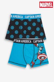 2 Pack Marvel® Captain America Trunks (2-12yrs)