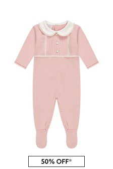 Paz Rodriguez Baby Girls Pink Cotton Babygrow