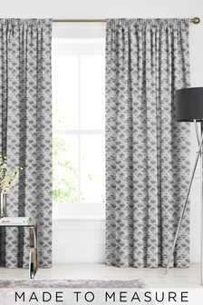 Souky Slate Grey Made To Measure Curtains