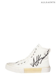 AllSaints Off White Elena Printlace Up High Top Shoes