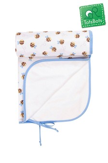 Frugi By Totsbots White Buzzy Bee Changing Mat