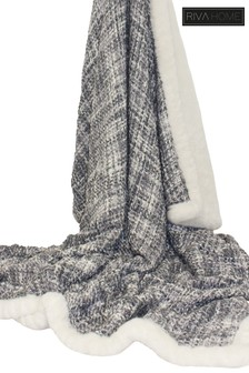 Lexa Metallic Bouclé Throw by Riva Home