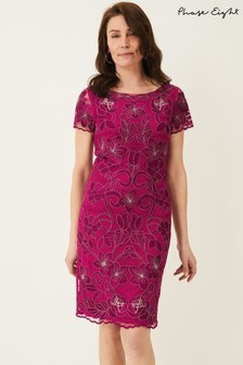 Phase Eight Pink Nessa Embroidered Dress