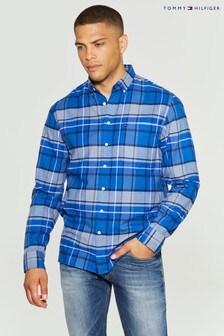 Tommy Hilfiger Blue Classic Tartan Shirt