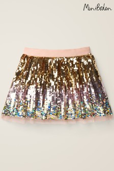 Boden Gold Ombre Sequin Party Skirt