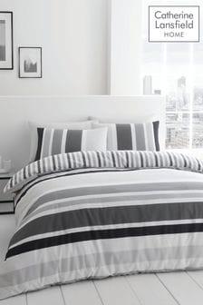 Catherine Lansfield Brighton Stripe Duvet Cover and Pillowcase Set