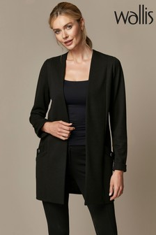Wallis Black Button Pocket Jacket
