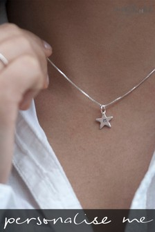 Personalised Tiny Star Necklace by Oh So Cherished