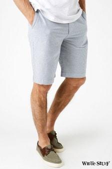 White Stuff Blue Banbury Stripe Chino Short