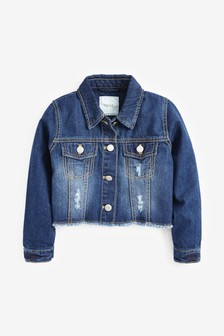 Raw Edge Cropped Western Jacket (3-16yrs)
