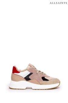 AllSaints Skye Low Top Lace-Up Calf Trainers