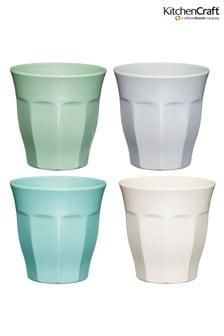 Set of 4 Kitchencraft Colourworks Classic Melamine Tumbler Glasses