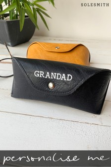 Personalised Men's Glasses Case by Solesmith