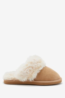 Faux Fur Mule Slippers (Older)