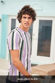 Vertical Stripe Slim Fit T-Shirt