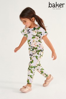 Baker by Ted Baker Girls Lilac Floral Jumpsuit
