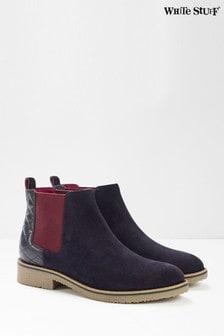 White Stuff Laney菱格紋Chelsea靴