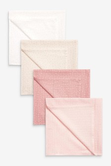 4 Pack Muslin Cloths