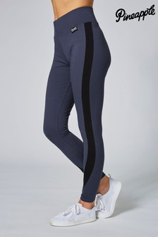 Pineapple Grey Racer High Waisted Leggings